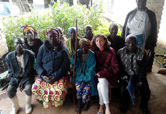 Amélie,étudianteen santé communautaire, au Sud-Kivu (République Démocratique du Congo).