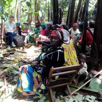 Amélie en stage en RDC